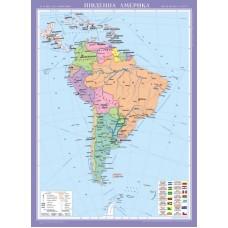 Південна Америка. Політична карта, м-б 1:8 000 000 (на планках )