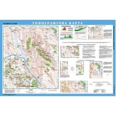 Топографічна карта, м-б 1:25 000 (на картоні, на планках)