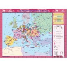 Держави Європи у 1815-1849 рр., м-б 1:4 000 000 (9 клас) (на планках)
