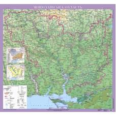 Миколаївська область. Фізична карта, м-б 1:200 000 (на картоні)