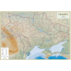 Україна. Гіпсометрична карта, м-б 1:500 000 (на капі в рамі)