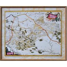Карта Брацлавського воєводства Ґ.Боплана, Я.Блау (1662-1758) (в рамі)