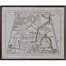 Карта Європейської Сарматії з