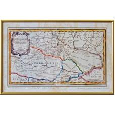 Карта прикордонних територій України, Польщі, Туреччини й Криму Г. Боденера(1710) (в рамі)