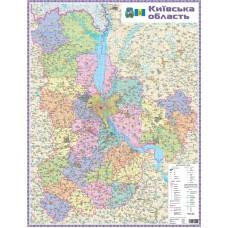 Київська область. Політико-адміністративна карта, м-б 1:200 000 (на картоні, на планках)