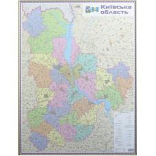 Київська область. Політико-адміністративна карта, м-б 1:200 000 (на картоні, в рамі)