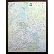 Київська область. Політико-адміністративна карта, м-б 1:200 000 (на картоні в багеті)