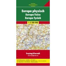 Європа. Карта автошляхів / Europa physisch. Autokarte