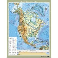 Америка Північна. Фізична м-б 1:8 000 000 (на картоні)