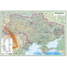 Україна. Загальногеографічна карта, м-б 1:1 500 000 (настінна лам. на планках)