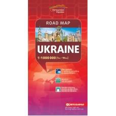 Карта автошляхів. Україна, м-б 1:1 000 000 (лат.)