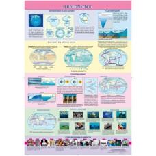 Світовий океан. Навчальний плакат з географії на планках