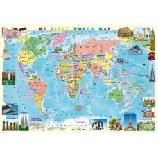 My First World Map (ламінована, на планках)