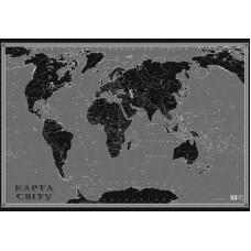 Крейдяна карта світу, на планках