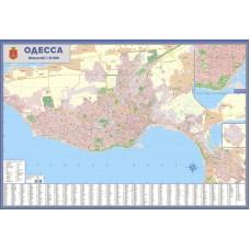 Одесса. План города м-б 1:18 500 картон на планках (РОС)