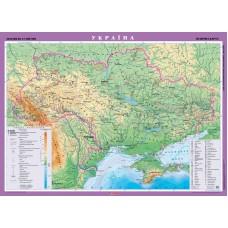 Україна. Фізична карта, м-б 1:1 000 000 (на картоні на планках)