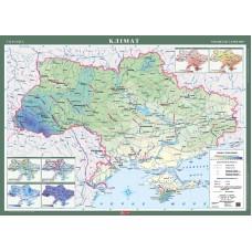 Україна. Клімат, м-б 1:1 000 000 (на картоні, на планках)