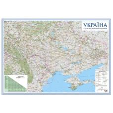 Україна. Карта автомобільних шляхів, м-б 1:1 000 000 (на картоні, на планках)
