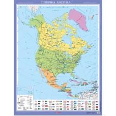 Північна Америка. Політична карта (на планках)