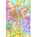Київська область. Політико-адміністративна карта м-б 1:200т (картон)
